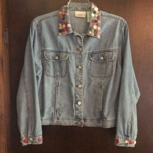 Bill Blass Novelty Jeans Jacket XL